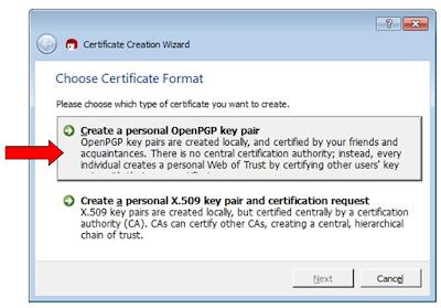 Certificado en Kleopatra