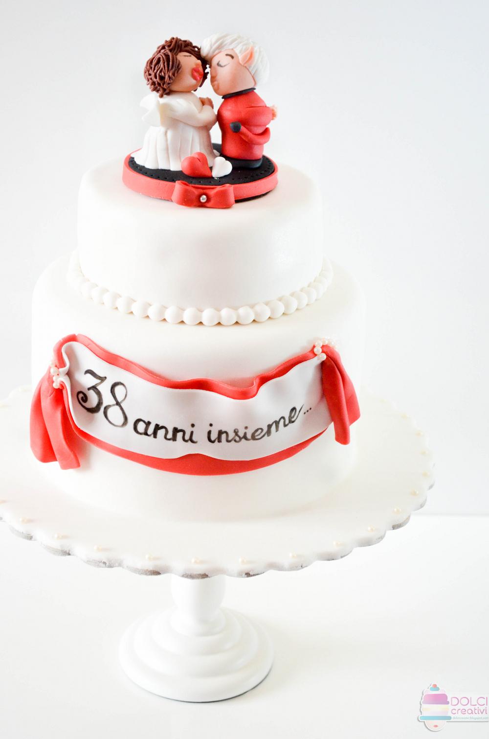 Anniversario Di Matrimonio 38 Anni.Torta Anniversario Di Matrimonio 38 Anni Insieme
