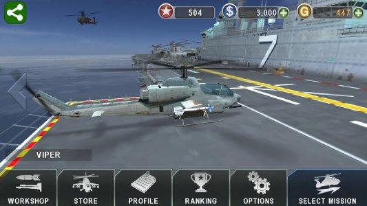 Tampilan Game Gunship Battle: Helicopter 3D