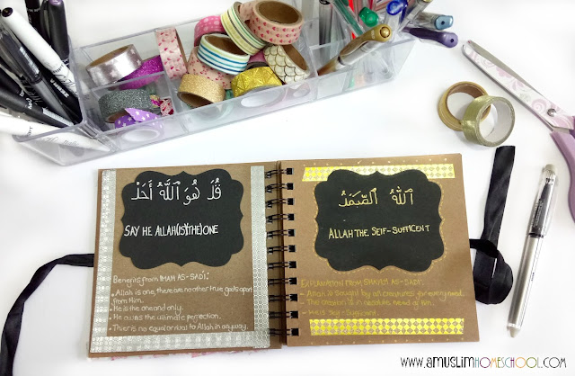 studying an ayah a day in our muslim homeschool morning basket routine