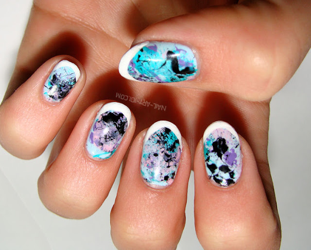 Manicure Tutorials: cool and easy Splatter Manicure