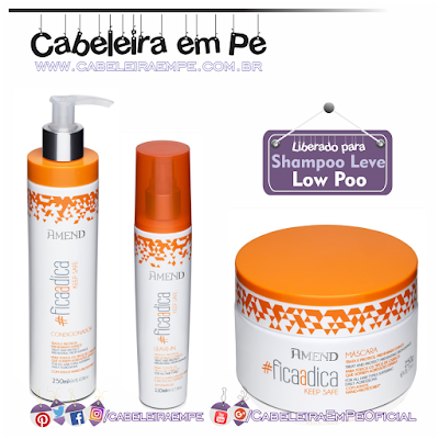 Linha #ficaadica - Keep Safe - Amend (Máscara, condicionador e leave in liberados para Low Poo)