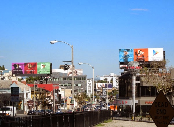 Google Play your heart out movies billboards Sunset Strip