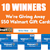Walmart $50 Gift Card Giveaway - 10 Winners Each Win $50, Limit One Entry, Ends 2/28/19