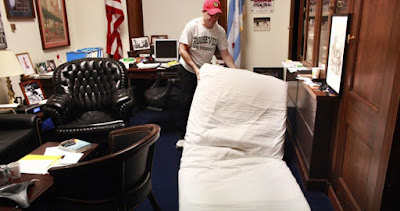 US House of Reps members sleep in their offices to save money