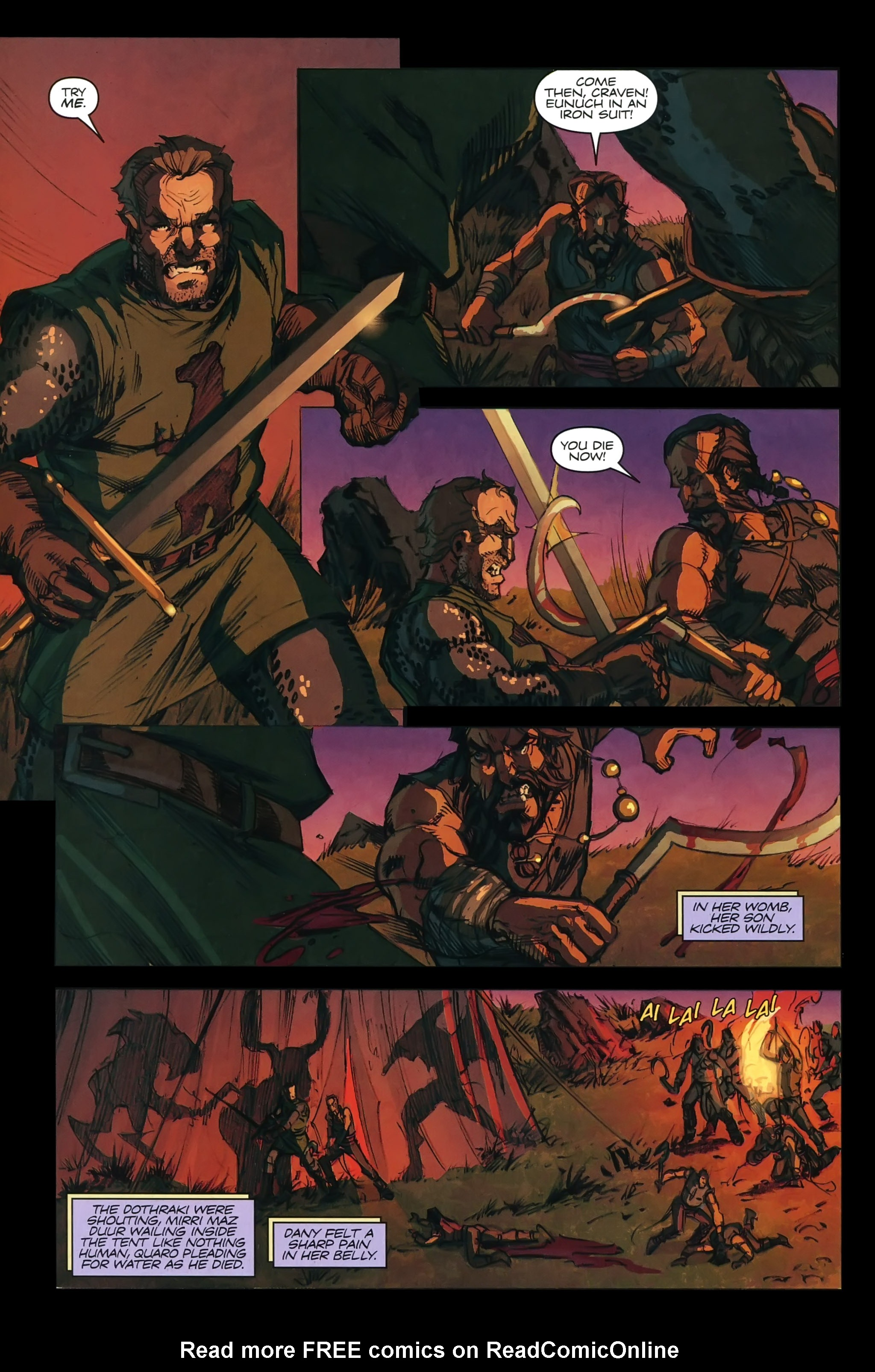 Read online A Game Of Thrones comic -  Issue #22 - 28