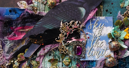 Mixed media layout RAVEN for Mixed Media Place