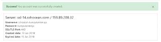 Contoh akun SSH Premium Support TLS