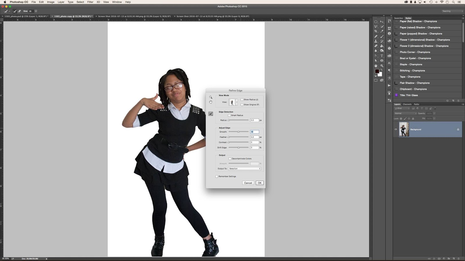 How to remove the background in photoshop cc 2018