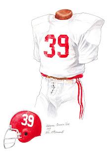 1979 Alabama Crimson Tide football uniform original art for sale
