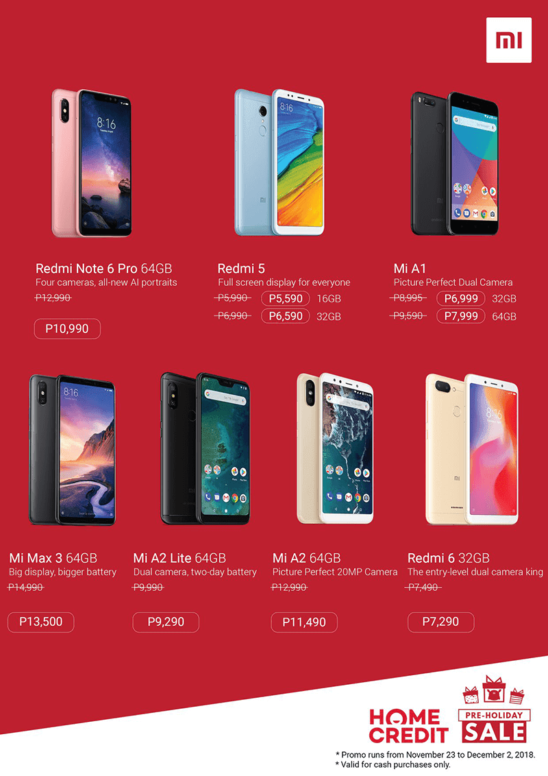 Devices like Redmi Note 6 Pro and Mi Max 3 is included