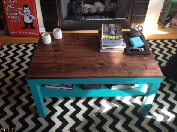 diy ikea hack coffee table