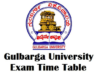 Gulbarga University Exam Time Table 2017