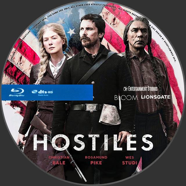 Hostiles Bluray Label