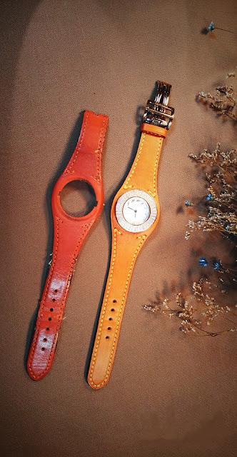 Tìm dây đồng hồ da phù hợp với mặt đồng hồ