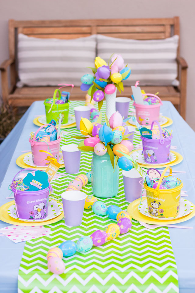 This is the cutest kids Easter party! Lots of fun Easter party ideas in this post!