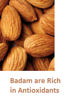 Health Benefits of Almond or Badam are Rich in Antioxidants