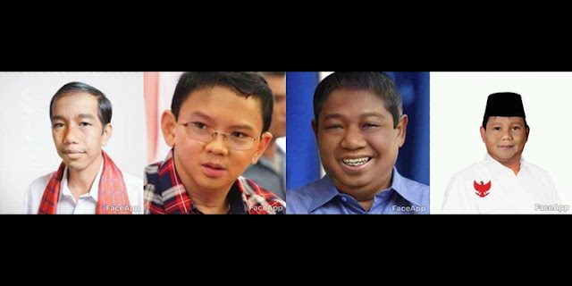 Yang lagi VIRAL!!, Tampang ABG Jokowi, Ahok, SBY dan Prabowo.. Netizen: Bikin NGAKAK..!!