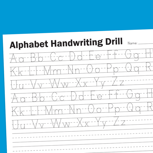 alphabet handwriting drill worksheets for children. Black Bedroom Furniture Sets. Home Design Ideas