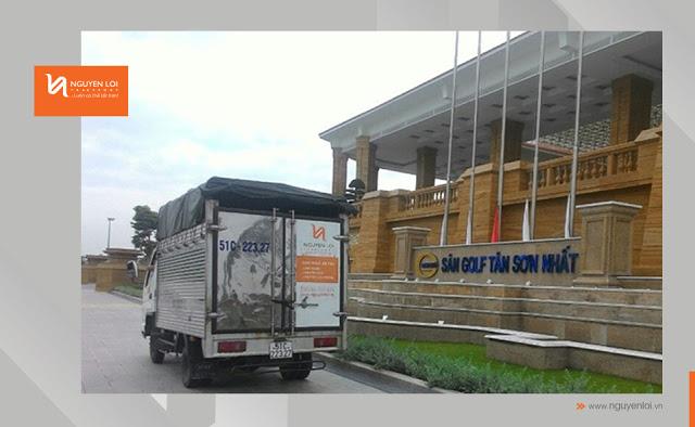 Thuê xe tải chở hàng tại sân Golf Tân Sơn Nhất