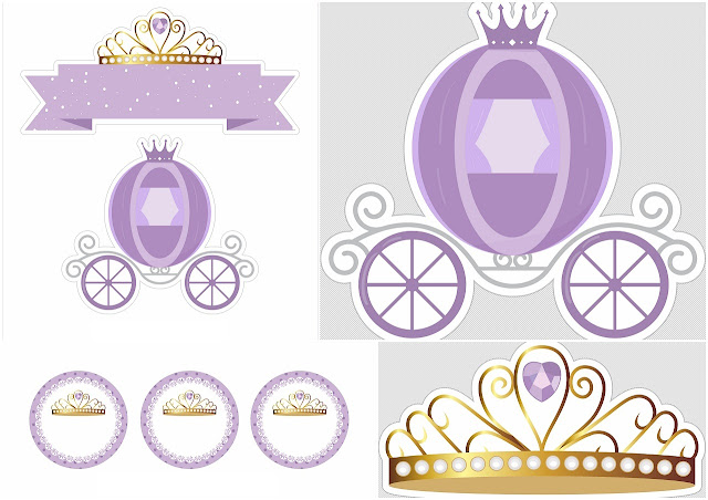 Princes in Purple Free Printable Cake Toppers.