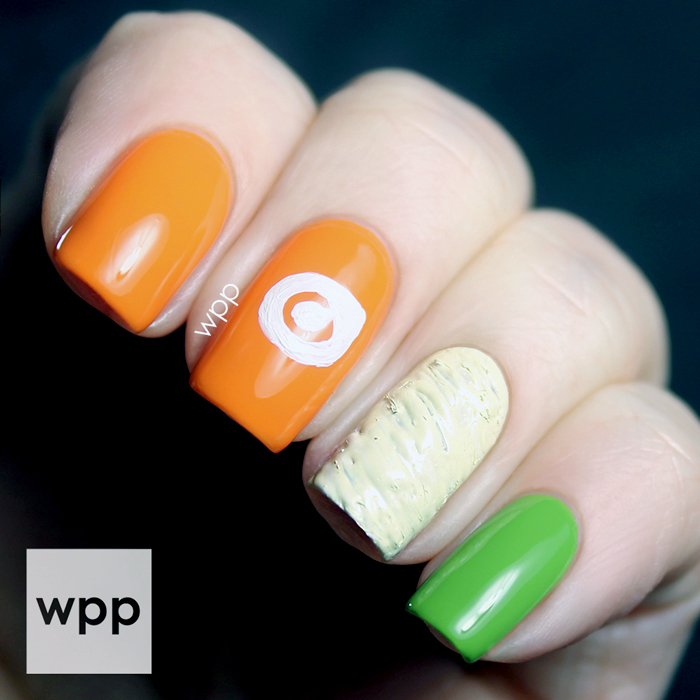 Lacquer Legion YUMMY: Orange Leaf Nail Art