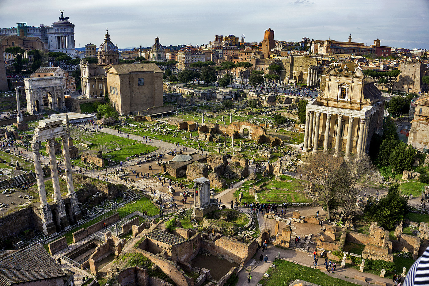 Photo of the Roman Forum in Rome, Italy