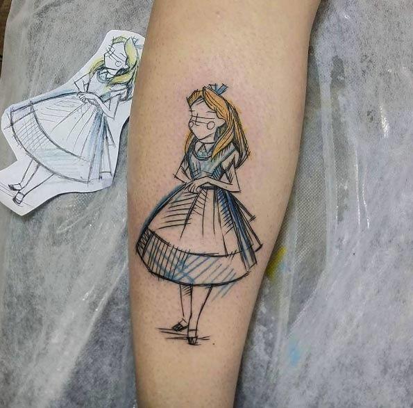 tatuagens de Desenhos da Disney