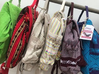 5 pocket 3 key fobs breathable machine-washable backack hand woven in Oaxaca