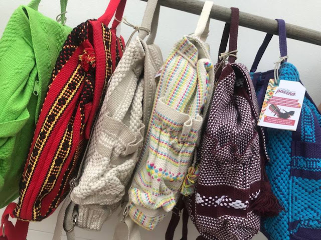 5 pocket 3 key fobs breathable machine-washable backack hand woven in Oaxaca