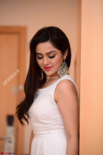 Ragini in Beautiful Cream Sleevelss Gown Perfect makeup ~  Exclusive 005.jpg