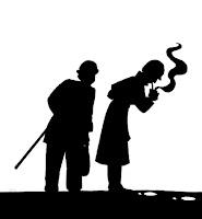 Siluetas de Holmes y Watson