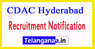 Centre Development of Advanced Computing CDAC Hyderabad Recruitment Notification 2017
