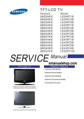 service repair manual rh emanualshop blogspot com samsung lcd tv service manual samsung lcd tv service manual and schematic diagrams
