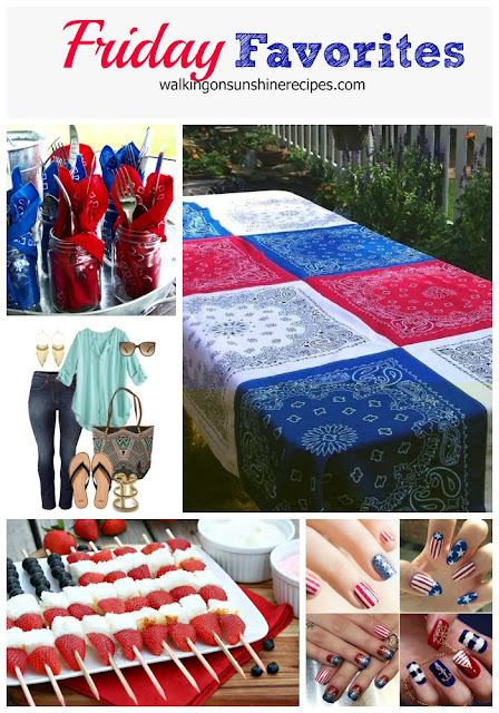 Easy and fun July 4th ideas that work all summer long for all your patriotic celebrations featured on Walking on Sunshine.