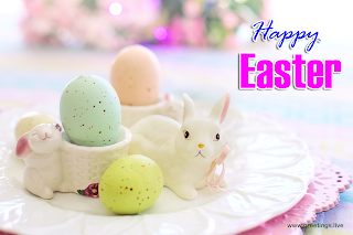 Pictures of Easter bunny with Happy Easter Message Easter Eggs
