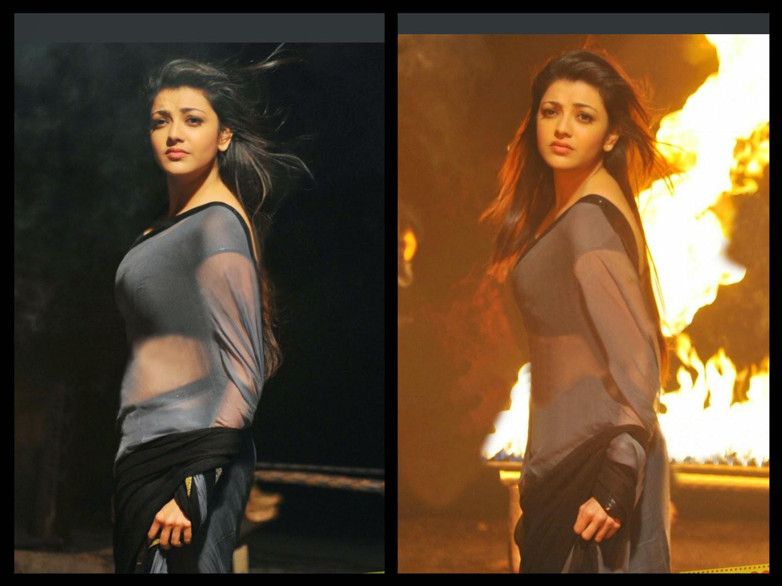 <div>Kajal Agarwal Latest Hot & Sexy Stills In Transparent Saree & Blouse</div>