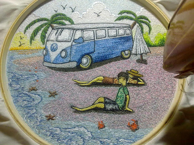 Volkswagen Embroidery Paint