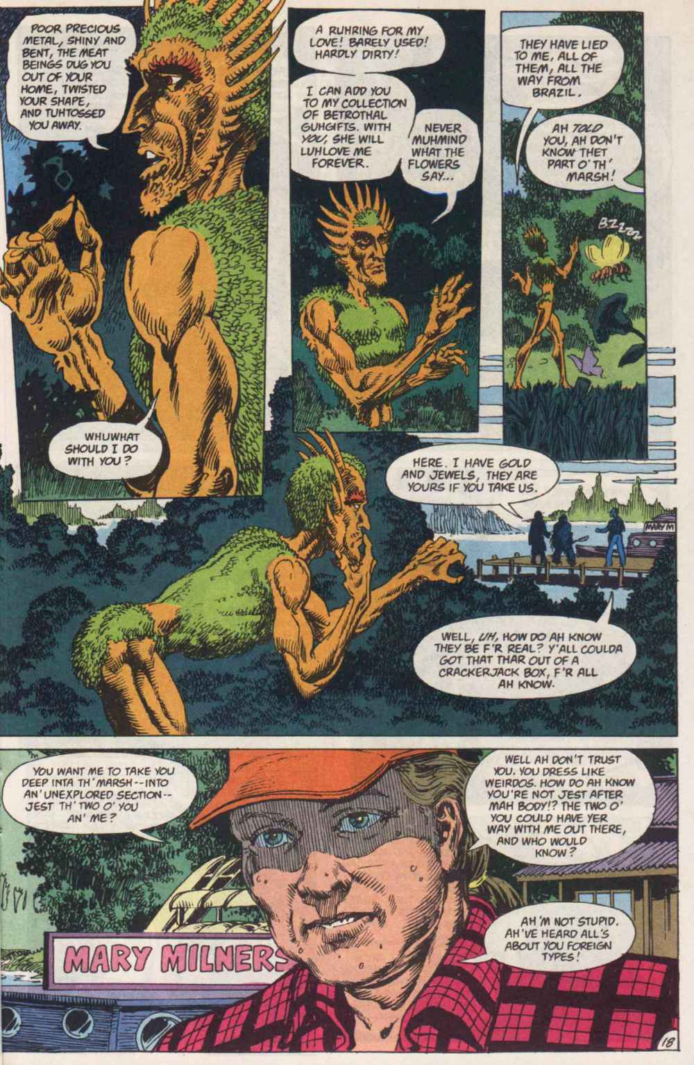 Swamp Thing (1982) Issue #91 #99 - English 17
