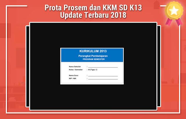 Prota Prosem dan KKM SD K13 Update Terbaru 2018