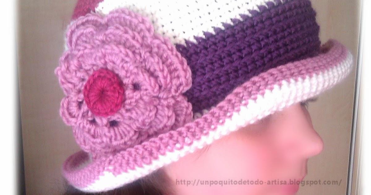 Un Poquito de Todo: Gorro cloché a crochet