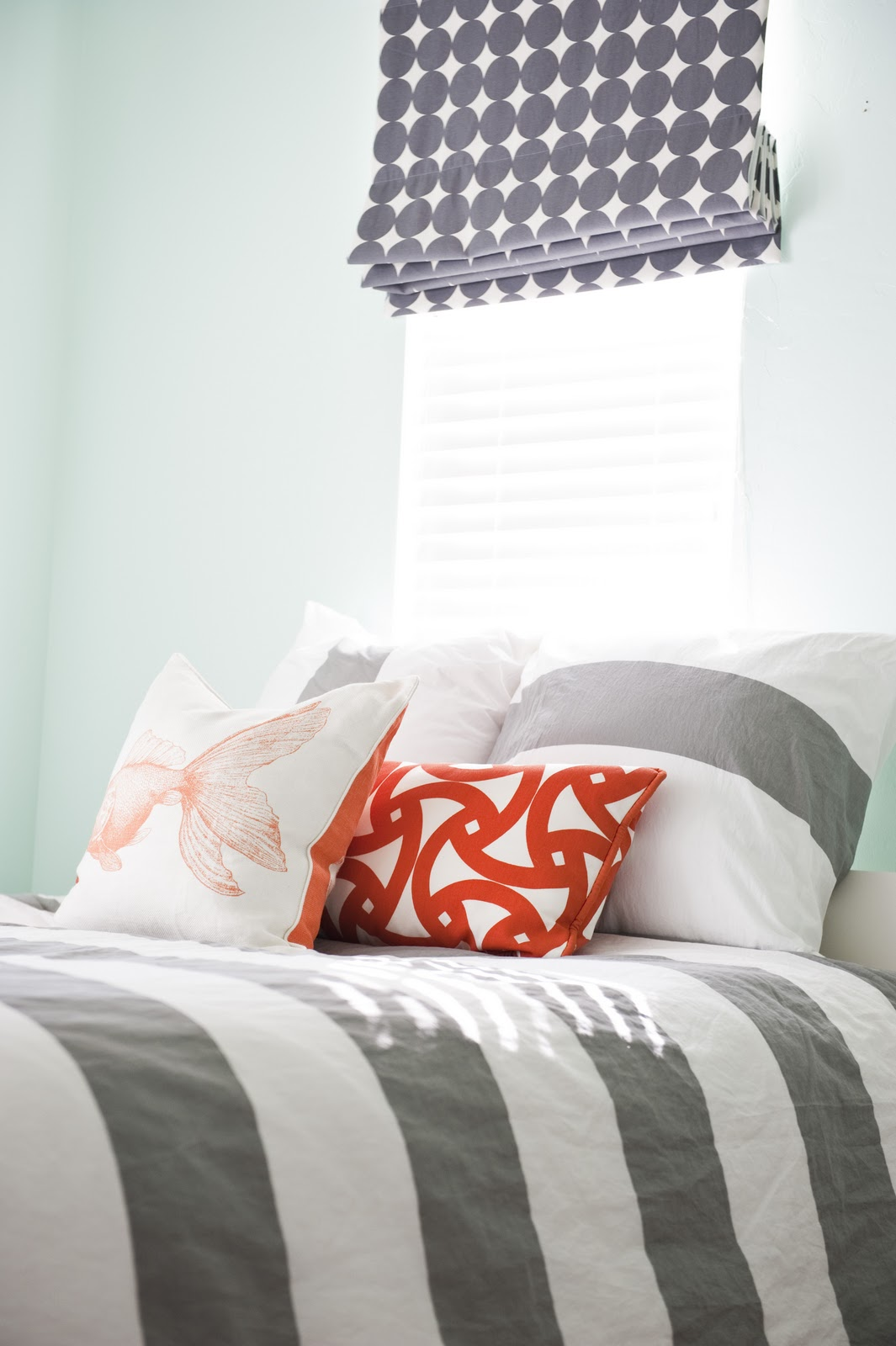 Gray  Orange Bedroom Before and After  House of Jade Interiors Blog
