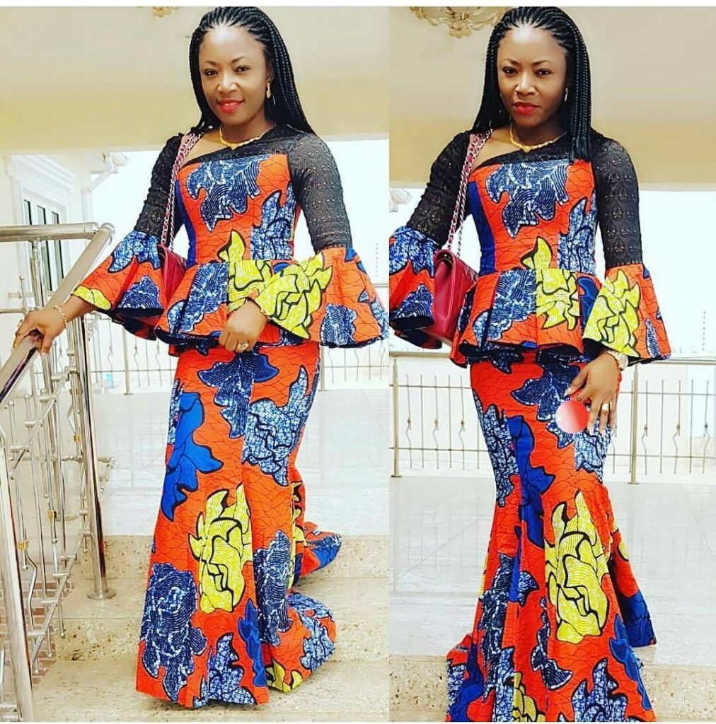 2018 Ankara Styles Check Out This Lovely Skirt And Blouse Dezango Fashion