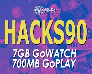 Globe HACKS90 – 7GB of GoWATCH Data, Unli All-net Texts for 7 Days