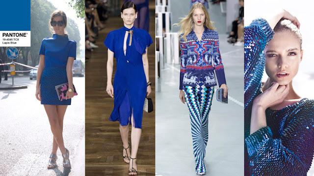 Цвет Pantone 2017 года Lapis Blue в одежде и интерьере
