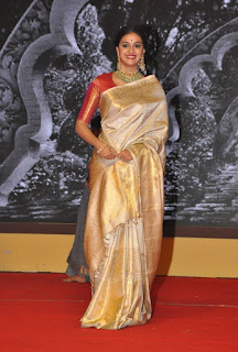 Keerthy Suresh in Saree with Cute and Lovely Expressions at Mahanati Audio Launch 3