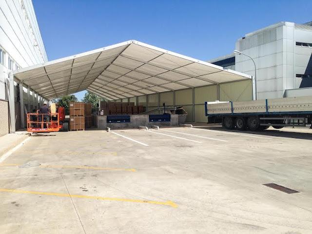 instalación carpas sobre pavimento Tarragona