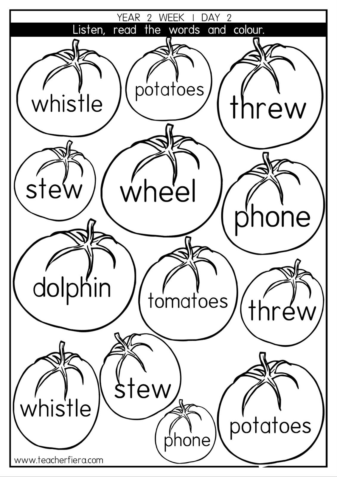 Teacherfiera Year 2 Phonics Lessons Week 2
