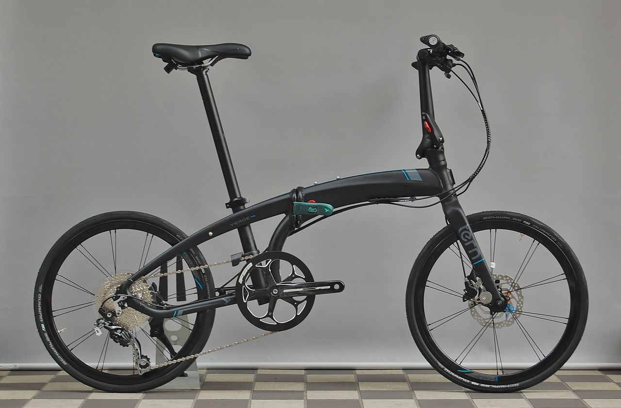 Belt drive folding e bike