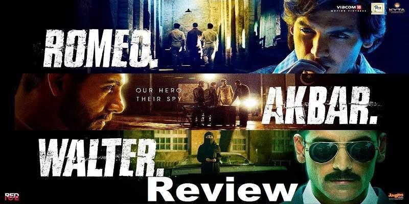 RAW Romeo Akbar Walter Movie Review Poster